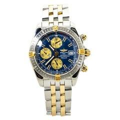 Breitling Chronomat B13356 Chronograph 18K Two Tone Mens Watch