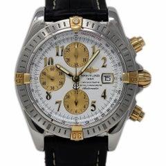 Breitling Chronomat B13356 Evolution Steel Gold Leather 2006 2 Year Warranty