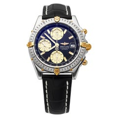 Breitling Chronomat Black Dial Gold Subdials