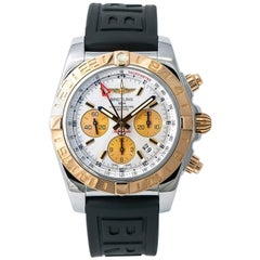 Breitling Chronomat CB0420 Men's Auto Chronograph MOP Dial Watch 18k Two-Tone