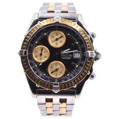 Breitling Chronomat Chronograph 18 Karat Yellow Gold and Stainless-Steel Watch