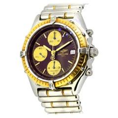 Breitling Chronomat Chronograph Automatik Armbanduhr 18 Karat Gold und Edelstahl