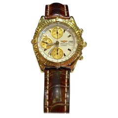 Breitling Chronomat Evolution 18 Karat Yellow Gold Automatic Watch