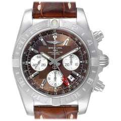 Breitling Chronomat Evolution 44 GMT Steel Men's Watch AB0420 Box Papers