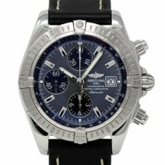 Breitling Chronomat Evolution A13356 Stainless Steel Leather 2 Year Warranty