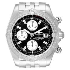 Breitling Chronomat Evolution Steel Black Dial Steel Men's Watch A13356