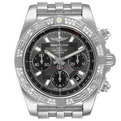 Breitling Chronomat Evolution Steel Diamond Men's Watch AB0140 Box Papers