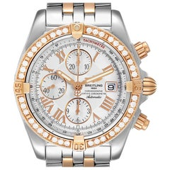 Breitling Chronomat Evolution Steel Rose Gold Diamond Watch C13356