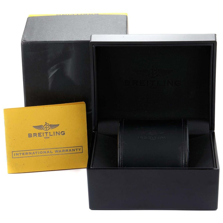 Breitling Chronomat Evolution Steel Rose Gold Men's Watch C13356 Box Papers For Sale 8