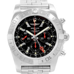 Breitling Chronomat GMT Black Dial Limited Edition Men's Watch AB0412