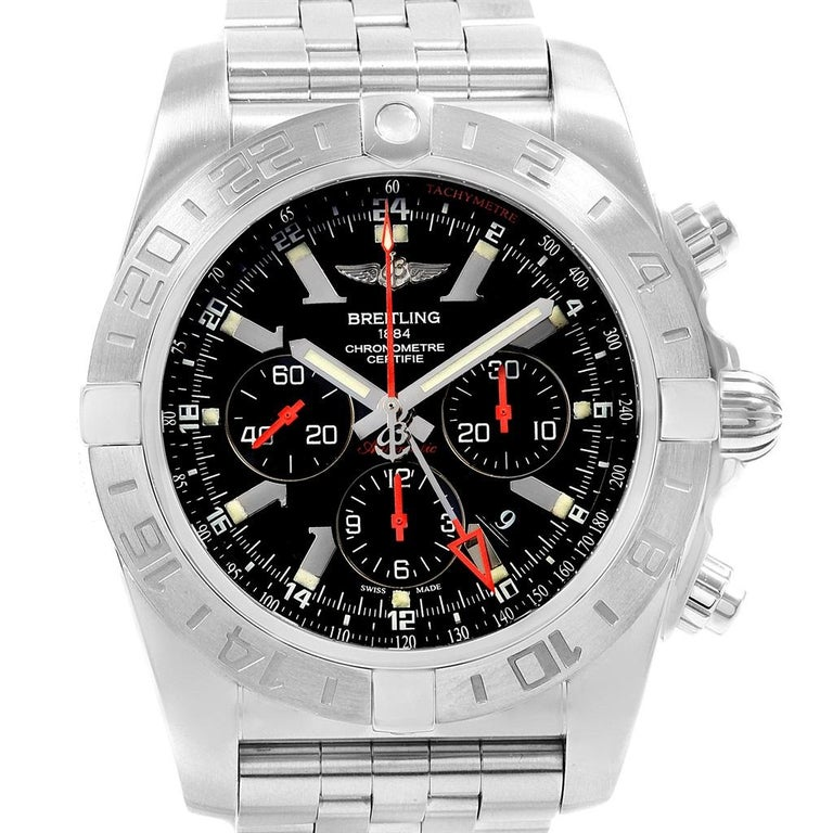 9a30f9b53e3a Breitling Chronomat GMT Black Dial Limited Edition Men s Watch AB0412 For  Sale 6