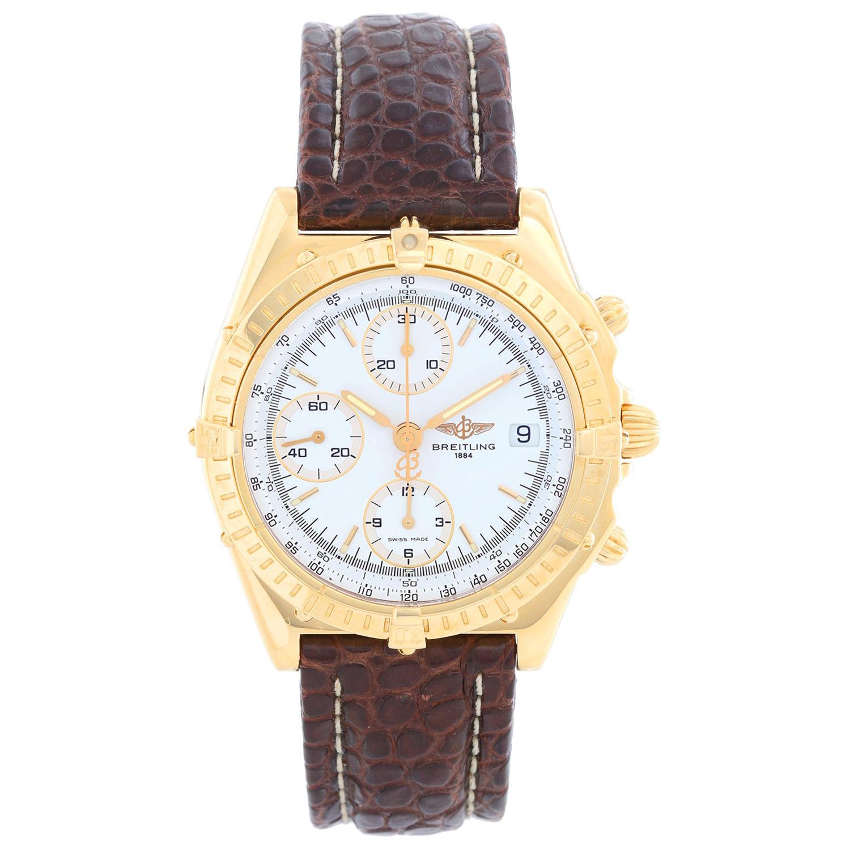 Breitling Chronomat Men's 18 Karat Yellow Gold Chronograph Watch K13048