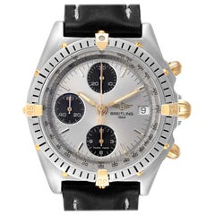 Breitling Chronomat Silver Dial Steel Yellow Gold Men's Watch B13050