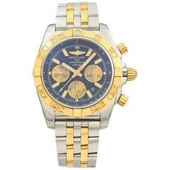 Breitling Chronomat Steel 18 Karat Gold Black Dial Watch CB011012/B968-357C