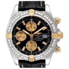 Breitling Chronomat Steel 18 Karat Yellow Gold Diamond Men's Watch B13356