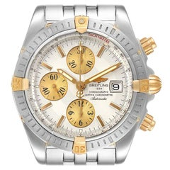 Breitling Chronomat Steel 18k Yellow Gold Men's Watch B13356 Box Papers