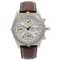 Breitling Chronomat Steel White Sticks Date Dial Automatic Men's Watch A13352