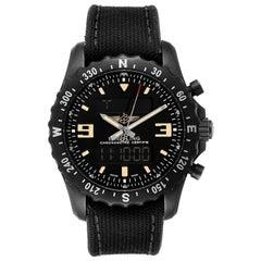 Breitling Chronospace Military GMT Alarm Blacksteel Men's Watch M78366