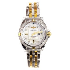 Breitling Cockpit Galactic 41 Diamond Gold and Stainless Automatic Watch