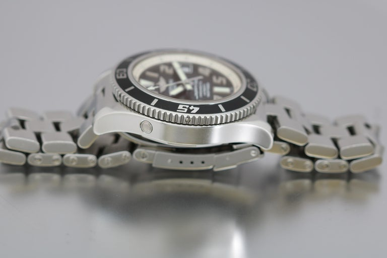 Breitling SuperOcean 42 Stainless Steel Automatic Ref A17364 circa 2010 For Sale 7
