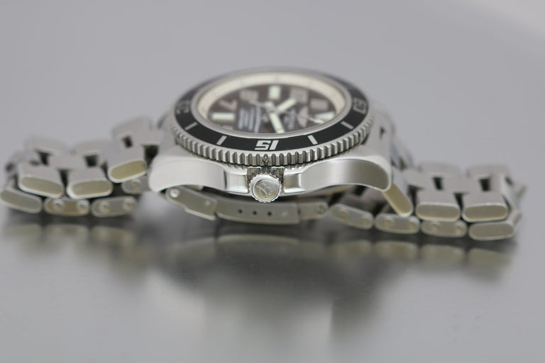 Breitling SuperOcean 42 Stainless Steel Automatic Ref A17364 circa 2010 For Sale 8