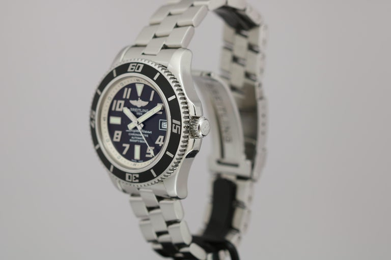 Breitling SuperOcean 42 Stainless Steel Automatic Ref A17364 circa 2010 For Sale 3