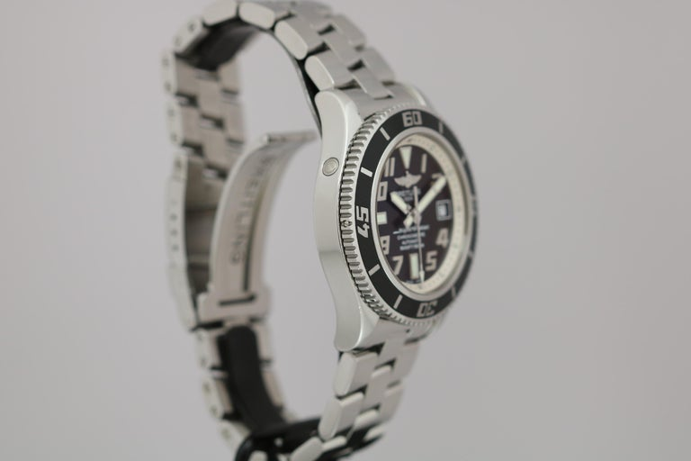 Breitling SuperOcean 42 Stainless Steel Automatic Ref A17364 circa 2010 For Sale 4