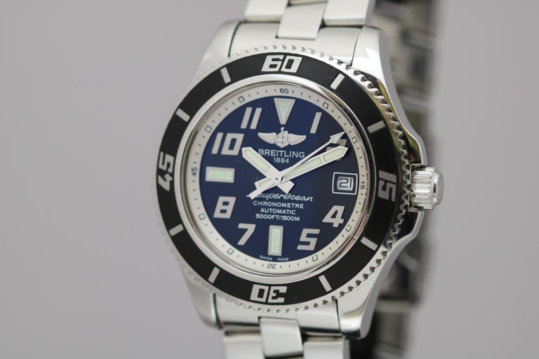 Breitling SuperOcean 42 Stainless Steel Automatic Ref A17364 circa 2010 For Sale 5