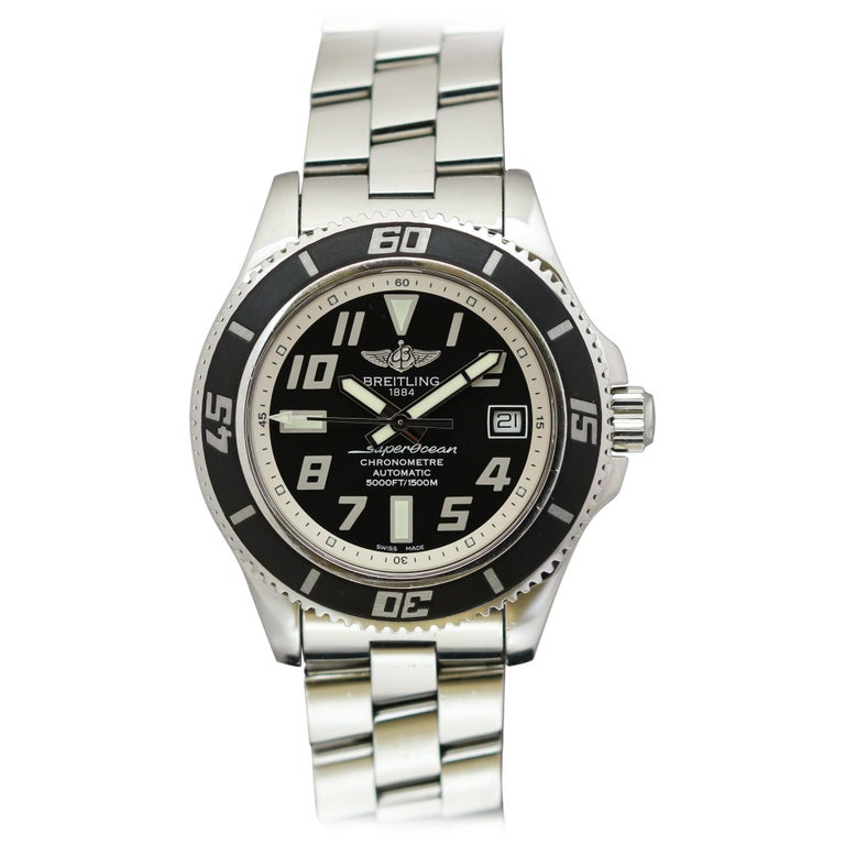 Breitling SuperOcean 42 Stainless Steel Automatic Ref A17364 circa 2010 For Sale