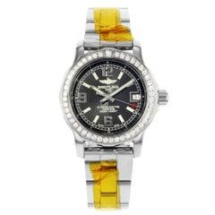 Breitling Colt 33 Black Dial Diamonds Ladies Quartz Watch A7738753/BB51-158A