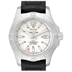Breitling Colt 41 White Dial Automatic Men's Watch A17313 Box Papers