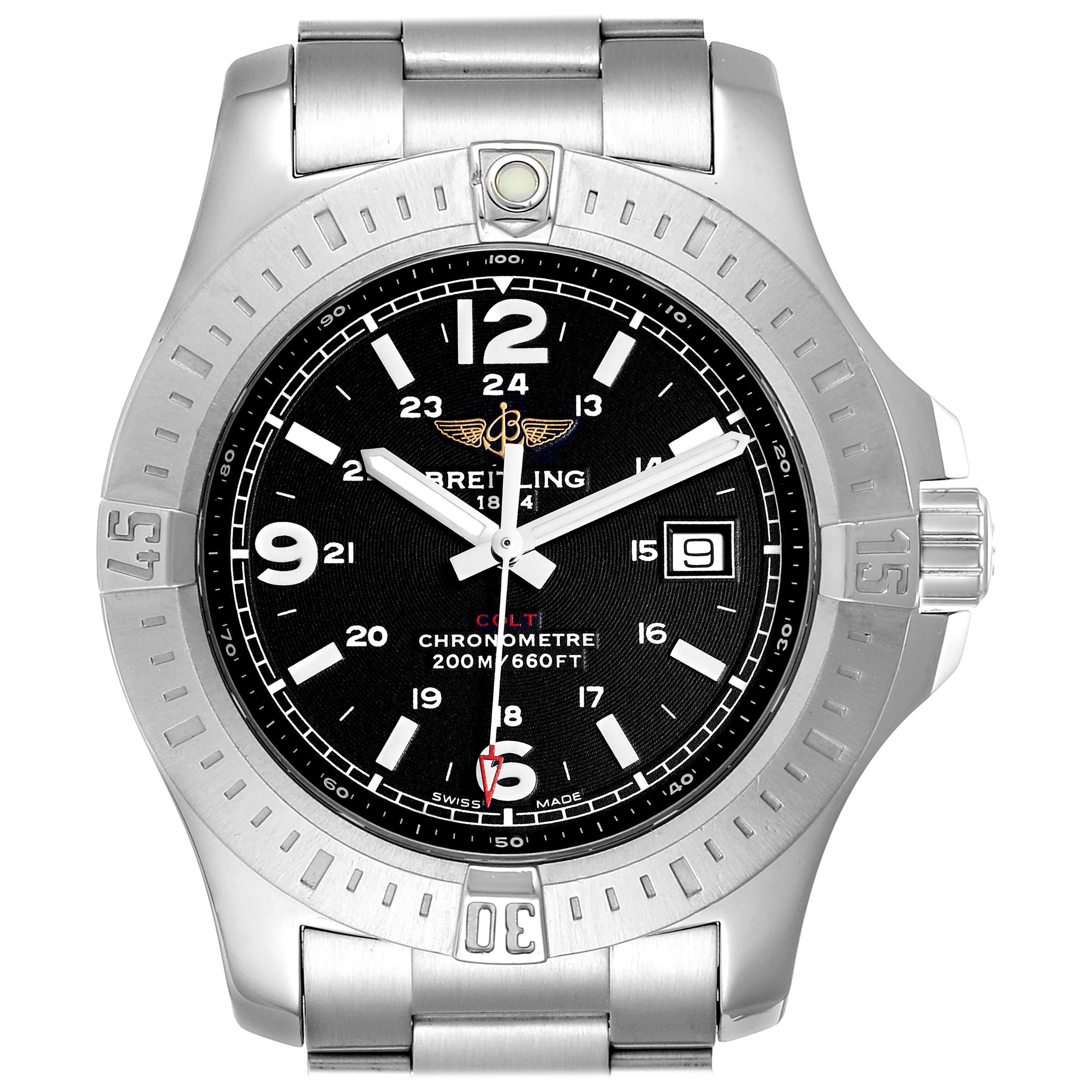 Breitling Colt Black Dial Stainless Steel Men's Watch A74388