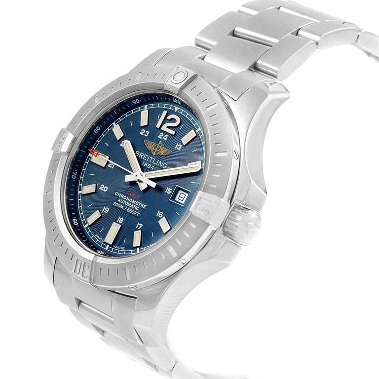 b925b1b317f Breitling Colt Blue Baton Dial Automatic Steel Mens Watch A17388 . Automatic  self-winding chronometer