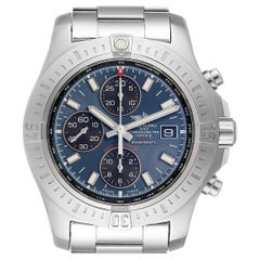 Breitling Colt Blue Dial Automatic Chronograph Steel Men's Watch A13388