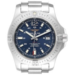 Breitling Colt Blue Dial Automatic Steel Men's Watch A17388 Box Card