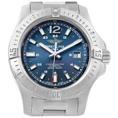 Breitling Colt Blue Dial Automatic Steel Men's Watch A17388 Box Papers