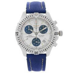 Breitling Colt ChronoOcean Steel Silver Blue Dial Quartz Mens Watch A53350