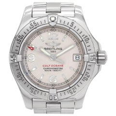Breitling Colt Ocean A77380 Stainless Steel White Dial Quartz Watch