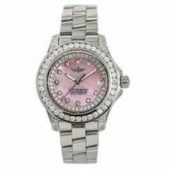 Breitling Colt Oceane A77380 Womens Quartz Watch Mop Dial 4.50CT Diamond 33mm
