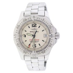 Breitling Colt Oceane Factory Silver Stick Dial Stainless Steel Ladies Watch