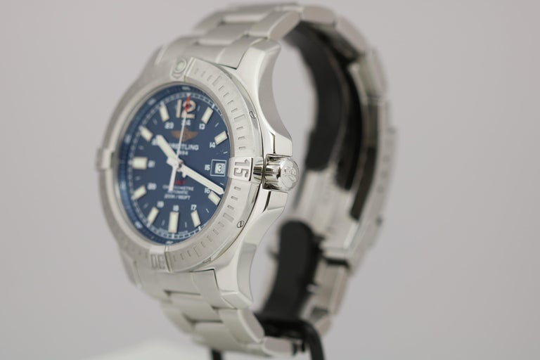 Breitling Colt Stainless Steel Ref A17388 Automatic Wristwatch In Good Condition For Sale In Miami Beach, FL