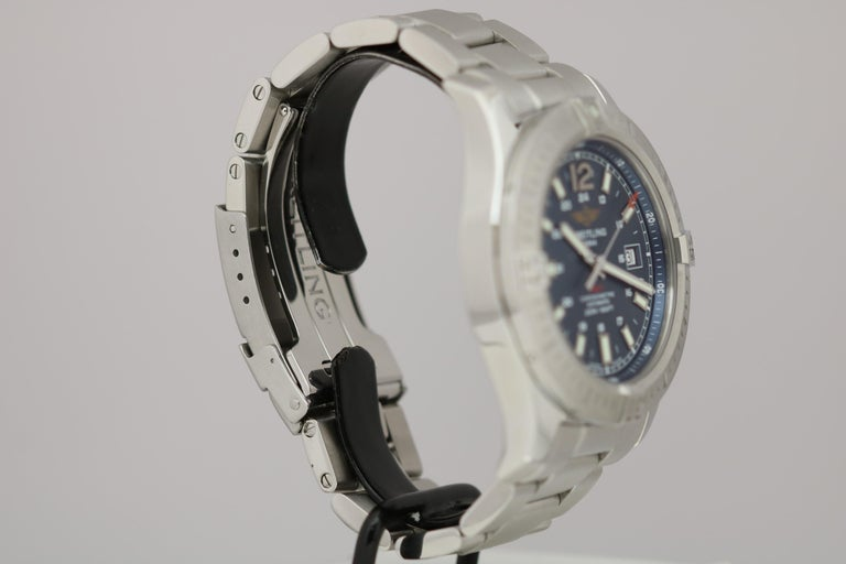 Men's Breitling Colt Stainless Steel Ref A17388 Automatic Wristwatch For Sale