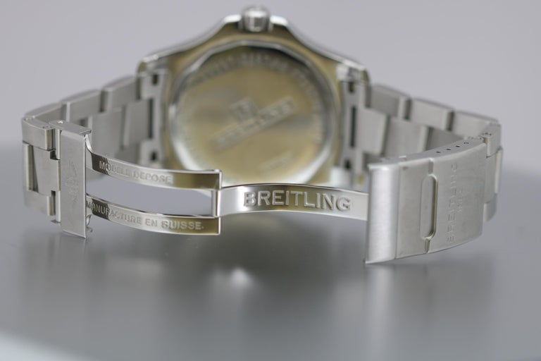 Breitling Colt Stainless Steel Ref A17388 Automatic Wristwatch For Sale 2