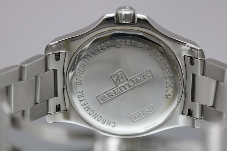 Breitling Colt Stainless Steel Ref A17388 Automatic Wristwatch For Sale 3