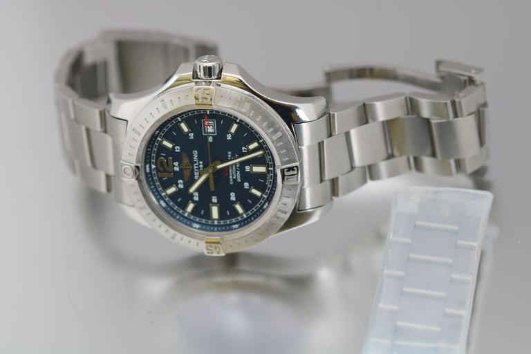 Breitling Colt Stainless Steel Ref A17388 Automatic Wristwatch For Sale 4