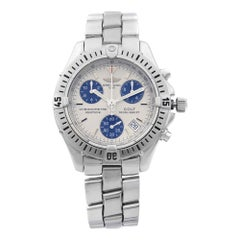 Breitling Colt Steel Silver Concentric Sticks Dial Quartz Men's Watch A73350