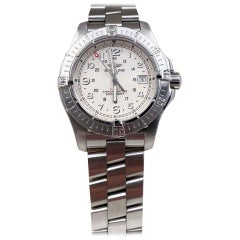 Breitling Colt White Dial A74380 Stainless Steel Watch Box Papers