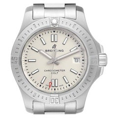 Breitling Colt White Dial Automatic Steel Men's Watch A17313 Box