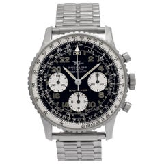 Breitling Cosmonaute No-Ref#, Black Dial, Certified and Warranty