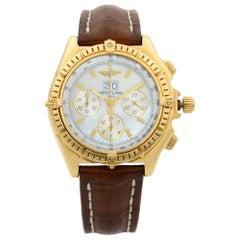 Breitling Crosswind Chronograph 18K Gold MOP Dial Automatic Men's Watch K44355